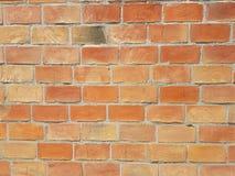 Weinlesebacksteinmauerhintergrund blockiert braune gelb-orangee Farbstruktur Stockbilder