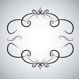 WeinlesebarockrahmenrollenverzierungsstichgrenzRetro- Musterantikenart Acanthus-Laubmit blumenstrudel lizenzfreie abbildung