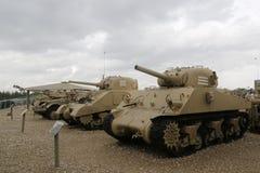 Weinlesebehälter auf Anzeige an Yad-La--Shiryongepanzertem Korps-Museum bei Latrun stockfotografie