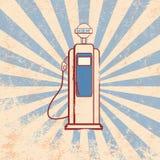 Weinlesebenzin-Zufuhrdesign stock abbildung