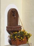 Weinlesebezaubern verschüttet mit antikem Becken Stockbild
