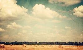 Weinlesebild der Landschaft Stockfotografie