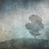 Weinlesebild eines Baums über grunge Hintergrund Lizenzfreies Stockbild