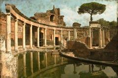 Landhaus Adriana nahe Rom - Weinlese Stockfotos