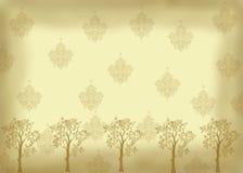 Weinleseblick mit Bäumen lizenzfreie stockfotos