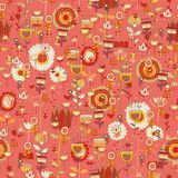 Weinleseblumen und -blätter. Nahtlos mit Blumen, Stockbilder