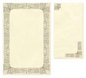 WeinleseBriefpapier und Umschlag vektor abbildung
