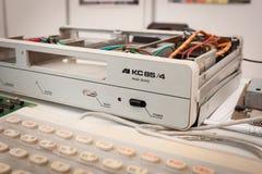 Weinlesecomputer an der Roboter-und Hersteller-Show Stockfotografie
