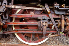 Weinlesedampflokomotive stockfotos