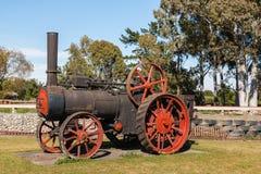Weinlesedampfmaschine an Blenheim-Museum, Neuseeland Stockbild