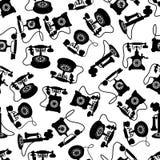 Weinlesedrehskala telefoniert Muster Lizenzfreie Stockfotos