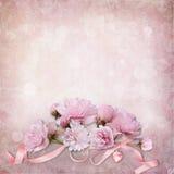 Weinleseeleganzhintergrund mit Rosen Stockfoto