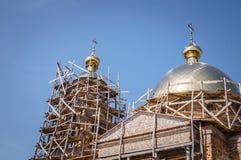Weinleseerbstück Die alte orthodoxe Kirche Lizenzfreie Stockbilder
