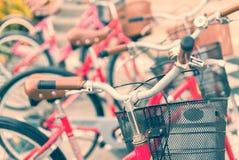 Weinlesefahrrad-Detailabschluß oben Stockbild
