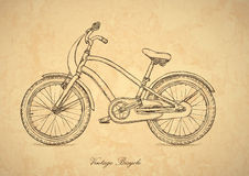 Weinlesefahrrad - Vektor in der Retro- Art Lizenzfreies Stockbild