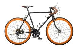 Weinlesefahrradschnitt für lokalisiert Lizenzfreie Stockfotografie