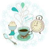 Weinlesefarbmorgen-Teehintergrund Lizenzfreies Stockbild