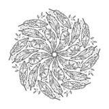 Weinlesefeder Mandala Stockbild