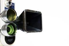 Weinlesefilmkamera mit Adapter Stockfotos