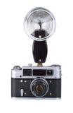 Weinlesefilmkamera mit Blinken Stockfoto