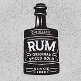 Weinleseflasche Rum vektor abbildung