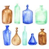Weinleseflaschen Stockbilder