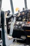 Weinleseflugzeug-Cockpitinnenraum Lizenzfreies Stockbild