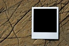 Weinlesefoto auf einem Stein Stockbilder