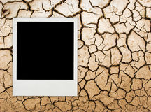 Weinlesefoto auf gebrochenem Boden Lizenzfreie Stockfotografie