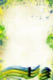 Weinlesefoto der Farben der Brasilien-Flagge Lizenzfreie Stockfotografie