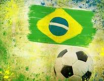 Weinlesefoto des Fußballs Brasilien 2014 Stockbilder