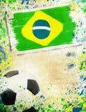 Weinlesefoto des Fußballs Brasilien 2014 Stockfotos