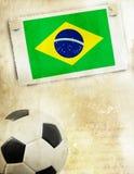 Weinlesefoto des Fußballs Brasilien 2014 Lizenzfreie Stockfotografie