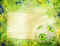Weinlesefoto des Fußballs Brasilien 2014 Stockfoto