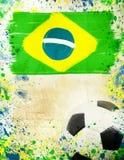 Weinlesefoto des Fußballs Brasilien 2014 Lizenzfreie Stockfotos