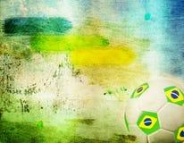 Weinlesefoto des Fußballs Brasilien 2014 Lizenzfreie Stockbilder