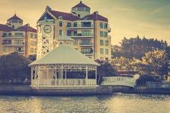 Weinlesefoto des Golf-Hafenstadtbeckens lizenzfreie stockfotos
