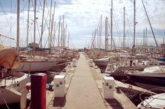 Weinlesefoto des Hafens Stockbild