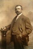 Weinlesefoto des älteren Geschäftsmannes Lizenzfreie Stockfotos