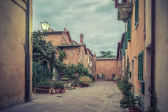 Weinlesefoto mit italienischer Stadt Lizenzfreies Stockbild
