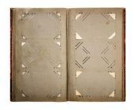 Weinlesefotoalbum mit schmutzigen gealterten Papierseiten Lizenzfreies Stockbild