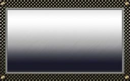 Weinlesefotofeld mit noblen Mustern Lizenzfreies Stockbild