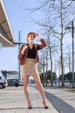 Weinlesefotofrau lizenzfreie stockbilder