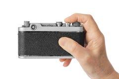 Weinlesefotokamera in der Hand stockfotos
