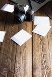 Weinlesefotokamera Unbelegte Foto-Felder Lizenzfreies Stockfoto