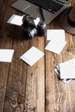 Weinlesefotokamera Unbelegte Foto-Felder Stockbild