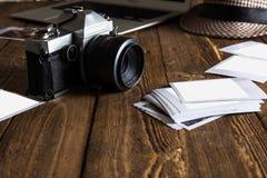 Weinlesefotokamera Unbelegte Foto-Felder Lizenzfreies Stockbild