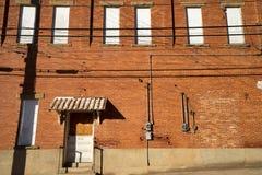 Weinlesegebäudearchitektur in Texas stockfotografie