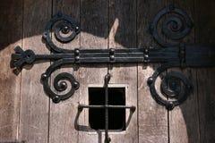 Weinlesegefängnisfenster Stockfoto