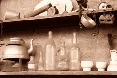 Weinlesegegenstand mögen im Regal Insektenvertilgungsmittel Lizenzfreies Stockbild